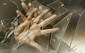 Картинка стекло, человек, руки