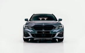 Картинка BMW, вид спереди, 3-series, универсал, 3er, 2020, G21, M340i xDrive Touring