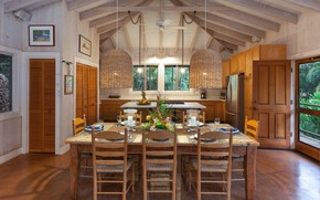 Картинка интерьер, кухня, столовая, Lalamilo Beach House