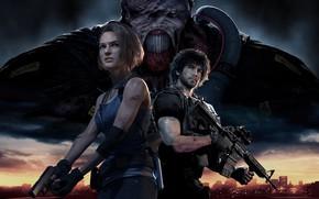Картинка персонажи, Обитель Зла, Resident Evil 3, Resident Evil 3 (2020)