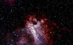 Картинка Chili, La Silla, Messier 17, Constellation of Sagittarius, The Omega Nebula, Star Forming Region, H …