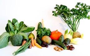 Картинка зелень, фрукты, овощи