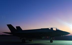 Картинка ВВС США, истребитель-бомбардировщик, Lockheed Martin, F-35A, Lightning-II