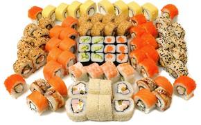Картинка рыба, икра, суши, роллы, морепродукты