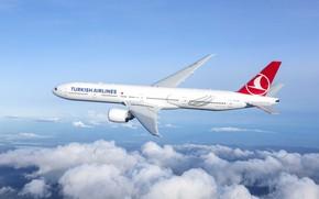 Картинка plane, boeing 777, turkish airlines