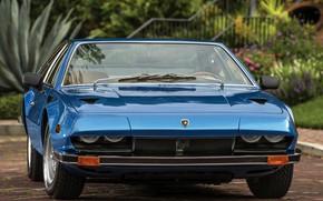 Картинка зелень, Lamborghini, синяя, 1970, ламба, Jarama, 400 GT