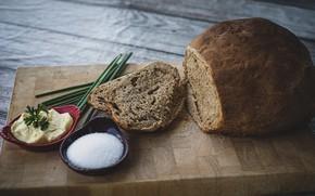 Картинка масло, хлеб, соль