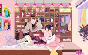 Картинка комната, утро, полка, Наруто, Naruto, Саске Учиха, Сакура Харуно