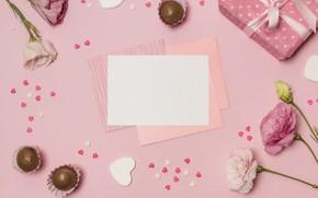 Картинка цветы, праздник, подарок, Candy, кофеты, Holiday, шоколадные, Happy, День Матери