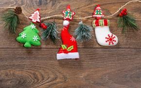 Картинка украшения, фон, Рождество, Новый год, гирлянда