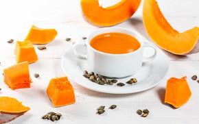 Картинка суп, тыква, здоровье, польза