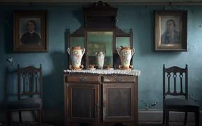 Картинка комната, стулья, натурализм