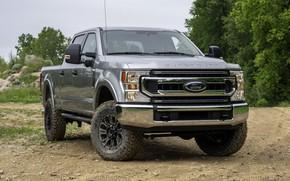 Картинка серый, Ford, спереди, пикап, Super Duty, F-350, Tremor, 2020, Off-Road Package, F-series