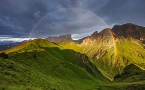 Картинка радуга, Martin Rak, горы, mountains, rainbow