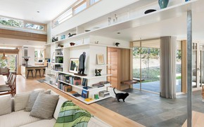 Картинка интерьер, жилое пространство, Woodland Contemporary