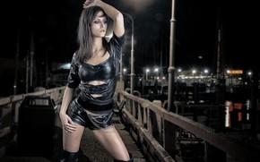 Картинка девушка, стиль, фон, модель, Martin Fuhrmann