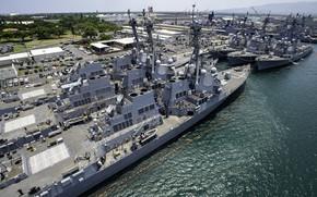 Картинка база, боевые корабли, военно-морская, эсминцы