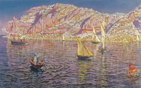 Картинка Малага, Malaga, Spanish painter, испанский живописец, oil on canvas, Carmen Thyssen Museum, Музей Кармен Тиссен, ...