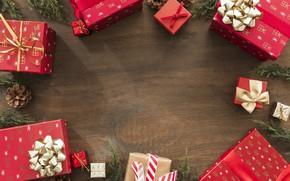 Картинка украшения, Новый Год, Рождество, подарки, Christmas, wood, New Year, gift, decoration, Merry