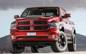 Картинка красный, Dodge, пикап, Ram, 2017, 1500 RX Crew Cab, Militem
