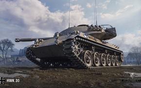 Картинка WoT, World of Tanks, немецкий танк, Wargaming, HWK 30
