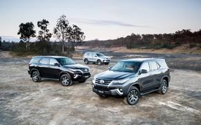 Картинка фото, Toyota, Автомобили, SUV, Металлик, Fortuner