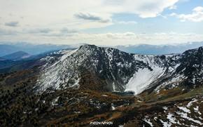 Картинка снег, пейзаж, горы, природа, свежий воздух, красота, Алтай, клипмейкер Антон Иванов, Красная гора Алтай
