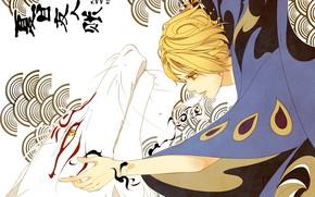 Картинка арт, natsume yuujinchou, Няко-сенсей, Тетрадь дружбы Натсуме, Натсуме