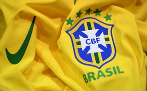 Картинка wallpaper, sport, logo, Nike, football, Brasil, t-shirt, National team