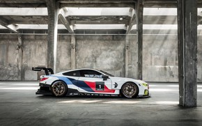 Картинка BMW, Колеса, Машина, Диски, Sport, GTE, Спойлер, Вид Сбоку