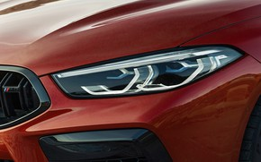 Картинка фара, BMW, кабриолет, 2019, BMW M8, M8, F91, M8 Competition Convertible, M8 Convertible