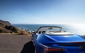 Картинка побережье, Lexus, Convertible, LC 500, 2021
