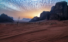 Картинка Jordan, Amazing sky, Wadi Rum desert