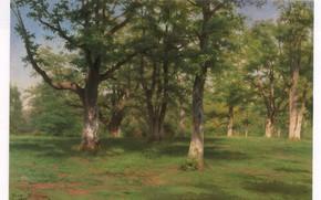 Картинка трава, деревья, природа, BONHEUR