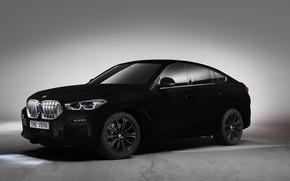 Картинка BMW, BMW X6, SUV, 2019, Vantablack, BMW X6 Vantablack, BMW X6 Vantablack SUV