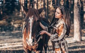Картинка девушка, конь, лошадь, Антон Харисов, Мария Башмакова