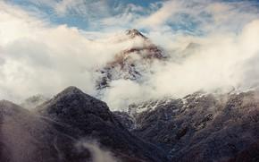Картинка облака, горы, Армения, Хуступ