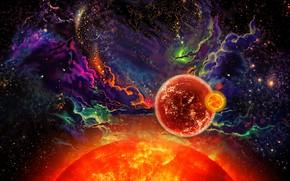 Картинка космос, звезды, планеты