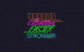 Картинка Музыка, Фон, Daft Punk, Thomas Bangalter, Harder, Faster, Дафт Панк, Better, Маски, Bangalter, Stronger, Guy ...