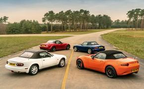 Картинка крыши, Mazda, MX-5, родстеры, четыре поколения (NA-NB-NC-ND)