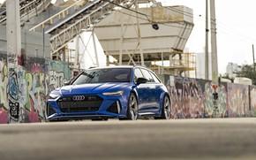 Картинка Audi, Blue, Side, Avant, RS6, VAG