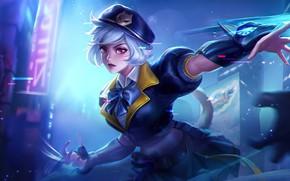 Картинка девушка, свет, бант, Mobile Legends: Bang Bang