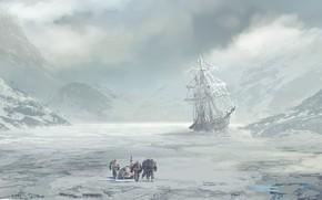 Картинка корабль, экспедиция, The long walk, col price