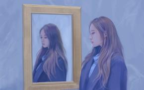 Картинка девушка, картина, азиатка