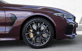 Картинка купе, колесо, BMW, 2019, M8, четырёхдверное, M8 Gran Coupe, M8 Competition Gran Coupe, F93