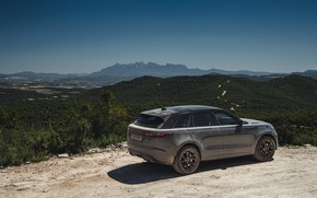 Картинка небо, долина, Land Rover, Range Rover, SUV, V8, Velar, 2019, Dynamic Edition, SV Autobiography