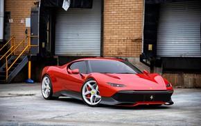 Картинка Машина, Ferrari, Red, Car, Render, Суперкар, Рендеринг, Supercar, Спорткар, Sportcar, Deborah, Nancorocks, Transport & Vehicles, …