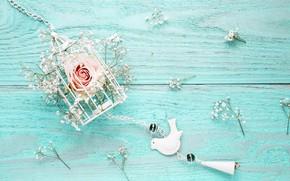 Картинка цветы, фон, розы, розовые, white, wood, blue, pink, flowers, beautiful, romantic, roses, tender