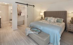 Картинка комната, кровать, подушки, спальня