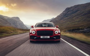 Картинка Bentley, спереди, Flying Spur, 2020, V8, 2021, Flying Spur V8